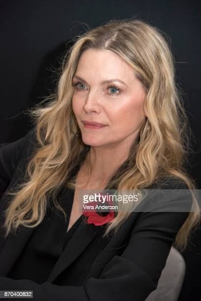 Michelle Pfeiffer at the 'Murder on the Orient Express' Press Conference at the Claridges Hotel on November 3 2017 in London England