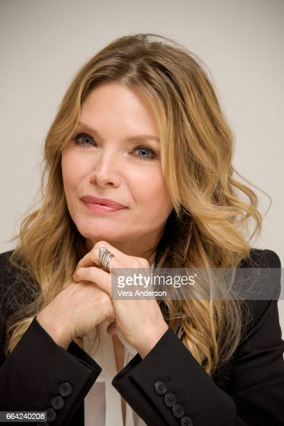 Michelle Pfeiffer at 'The Wizard of Lies' Press Conference at the Four Seasons Hotel on April 1 2017 in Beverly Hills California