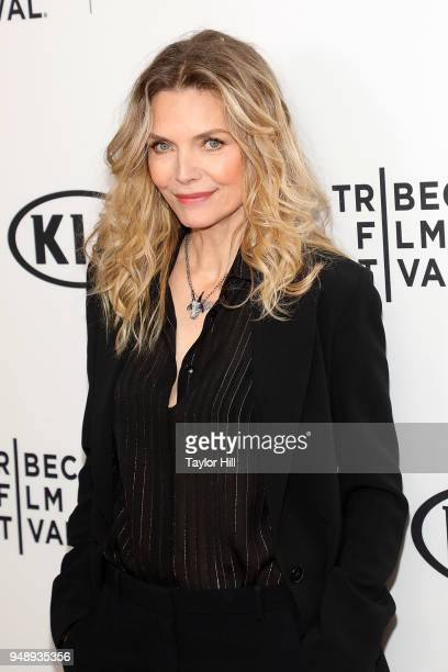 Michelle Pfeiffer attends a screening of 'Scarface' during the 2018 Tribeca Film Festival at Beacon Theatre on April 19 2018 in New York City