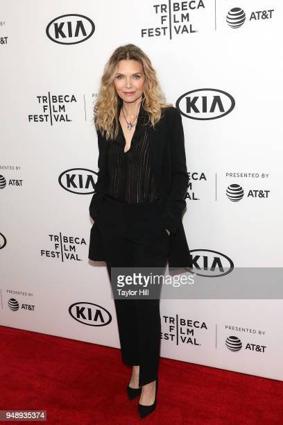 Michelle Pfeiffer attends a screening of Scarface during the 2018 Tribeca Film Festival at Beacon Theatre on April 19 2018 in New York City