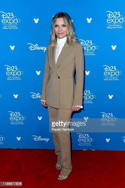 Michelle Pfeiffer attends Go Behind The Scenes with Walt Disney Studios during D23 Expo 2019 at Anaheim Convention Center on August 24, 2019 in...