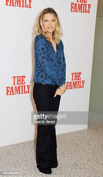 Michelle Pfeiffer attends photocall for 'The Family' at The Dorchester on October 14 2013 in London England
