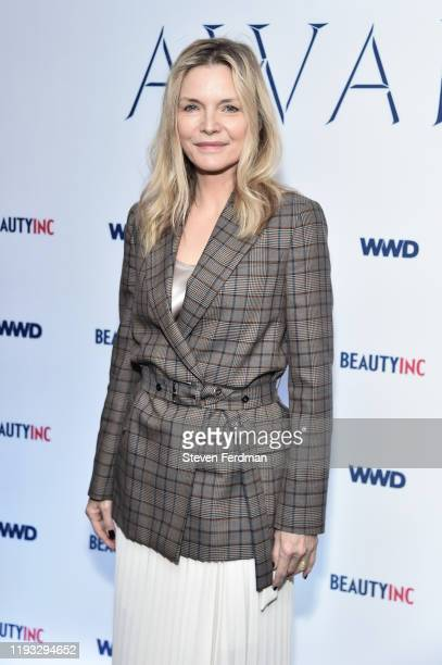 Michelle Pfeiffer attends the 2019 WWD Beauty Inc Awards at The Rainbow Room on December 11 2019 in New York City