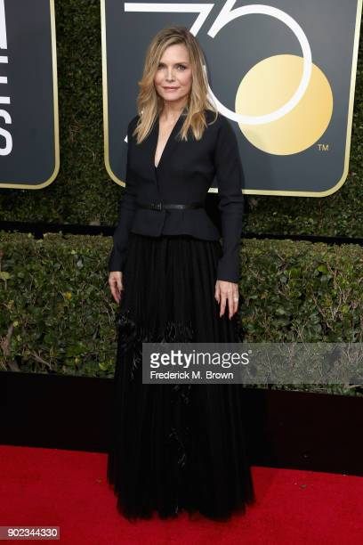 Michelle Pfeiffer attends The 75th Annual Golden Globe Awards at The Beverly Hilton Hotel on January 7 2018 in Beverly Hills California