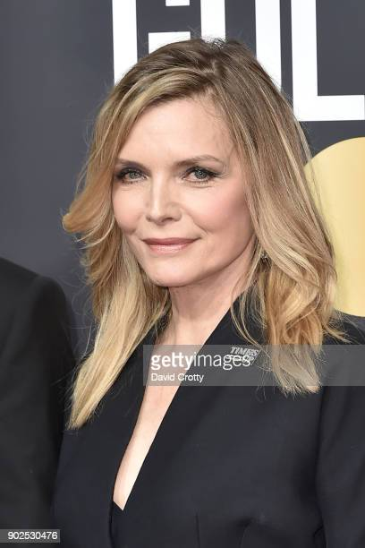 Michelle Pfeiffer attends the 75th Annual Golden Globe Awards Arrivals at The Beverly Hilton Hotel on January 7 2018 in Beverly Hills California