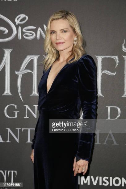 Michelle Pfeiffer attends the European premiere of the movie Maleficent – Mistress Of Evil at Auditorium della Conciliazione on October 07 2019 in...