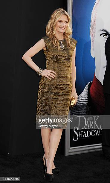 Michelle Pfeiffer attends the Los Angeles premiere of 'Dark Shadows' at Grauman's Chinese Theatre on May 7 2012 in Hollywood California