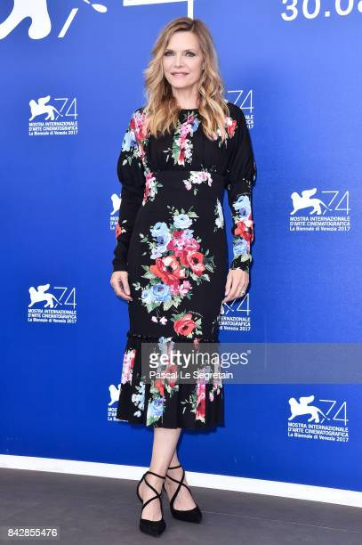 Michelle Pfeiffer attends the 'mother' photocall during the 74th Venice Film Festival at Sala Casino on September 5 2017 in Venice Italy