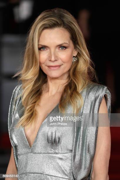 Michelle Pfeiffer attends the 'Murder On The Orient Express' World Premiere at Royal Albert Hall on November 2, 2017 in London, England.