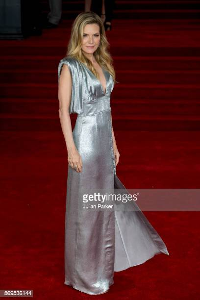 Michelle Pfeiffer attends the 'Murder On The Orient Express' World Premiere held at Royal Albert Hall on November 2 2017 in London England