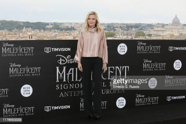 Michelle Pfeiffer attends the photocall of the movie Maleficent – Mistress Of Evil at Hotel De La Ville on October 07 2019 in Rome Italy