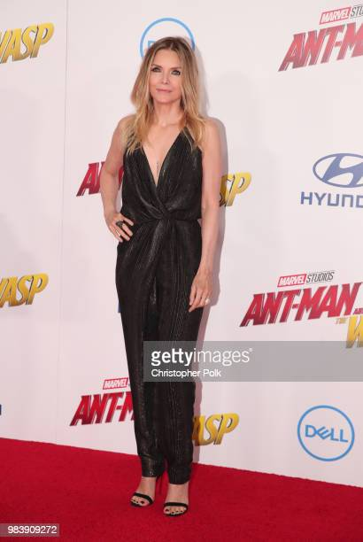 Michelle Pfeiffer attends the premiere of Disney And Marvel's 'AntMan And The Wasp' on June 25 2018 in Los Angeles California