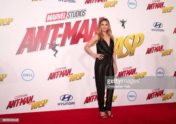 Michelle Pfeiffer attends the premiere of Disney And Marvel's AntMan And The Wasp on June 25 2018 in Los Angeles California