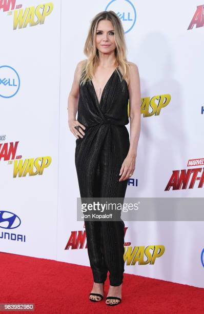 Michelle Pfeiffer attends the premiere of Disney And Marvel's 'AntMan And The Wasp' at the El Capitan Theater on June 25 2018 in Hollywood California