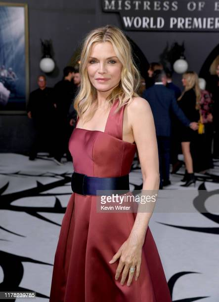 """Michelle Pfeiffer attends the world premiere of Disney's """"Maleficent: Mistress Of Evil"""" at El Capitan Theatre on September 30, 2019 in Los Angeles,..."""
