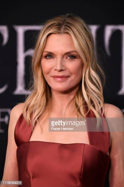 """Michelle Pfeiffer attends the World Premiere Of Disney's """"Maleficent: Mistress Of Evil"""" - Red Carpet at El Capitan Theatre on September 30, 2019 in..."""
