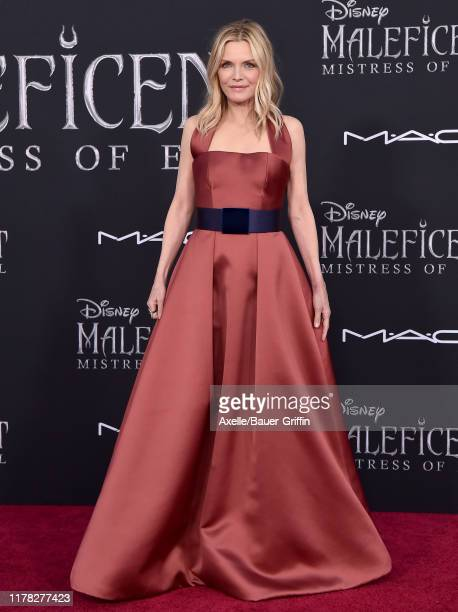 """Michelle Pfeiffer attends the World Premiere of Disney's """"Maleficent Mistress of Evil at El Capitan Theatre on September 30 2019 in Los Angeles..."""