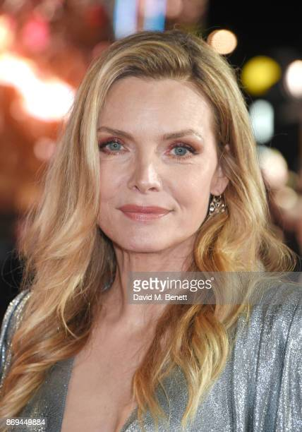Michelle Pfeiffer attends the World Premiere of 'Murder On The Orient Express' at The Royal Albert Hall on November 2 2017 in London England