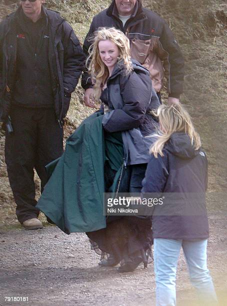 Michelle Pfeiffer *Body Double* on the set of the new Movie Stardust filmed on the Isle of Skye Exclusive
