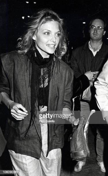 Michelle Pfeiffer during Premiere of 'King David' March 28 1985 at Mann National Theater in Westwood California United States