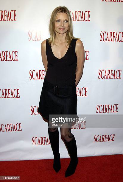 Michelle Pfeiffer during 'Scarface' 20th Anniversary Rerelease Celebration at City Cinemas Theatres in New York City New York United States