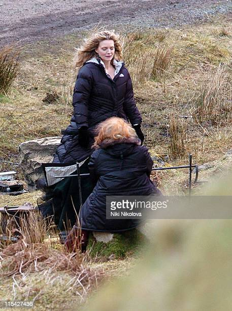 Michelle Pfeiffer on the set of the new Movie Stardust filmed on the Isle of Skye Exclusive