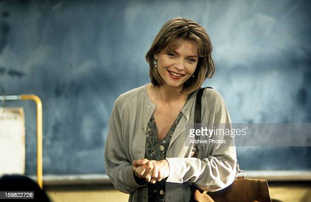 Michelle Pfeiffer teaching a class in a scene from the film 'Dangerous Minds', 1995.