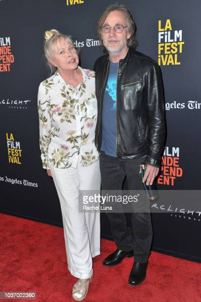 Michelle Phillips and Jackson Browne of ÒEcho in the CanyonÓ arrive at the 2018 LA Film Festival opening night premiere of Echo In The Canyon at John...