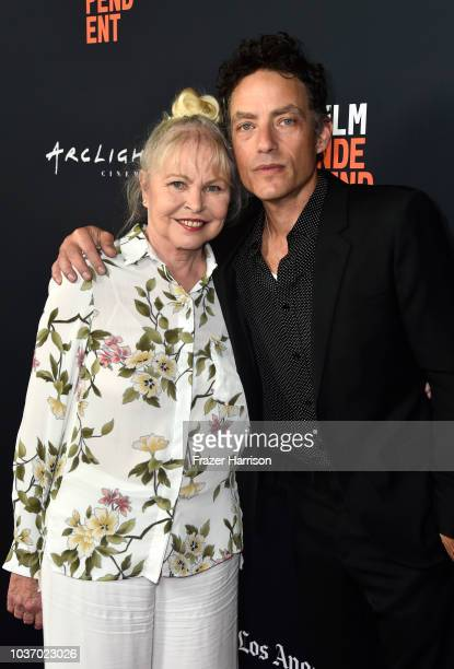 Michelle Phillips and Jakob Dylan attend the 2018 LA Film Festival Opening Night Premiere Of 'Echo In The Canyon' at John Anson Ford Amphitheatre on...