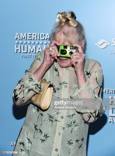 Michelle Phillips arrives at the 9th Annual American Humane Hero Dog Awards at The Beverly Hilton Hotel on October 05 2019 in Beverly Hills California