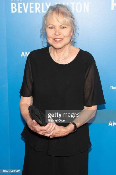 Michelle Phillips arrives for the American Humane's 2018 American Humane Hero Dog Awards at The Beverly Hilton Hotel on September 29 2018 in Beverly...
