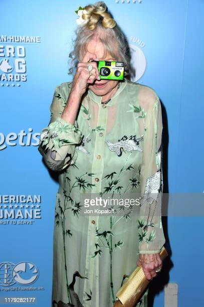 Michelle Phillips attends the 9th Annual American Humane Hero Dog Awards at The Beverly Hilton Hotel on October 05 2019 in Beverly Hills California