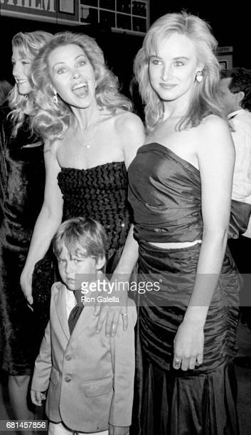 Michelle Phillips Austin Hines and Chynna Phillips attend American Anthem Premiere Party on June 23 1986 at the Palladium in New York City