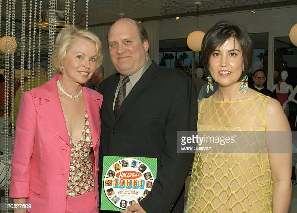 Michelle Phillips Hal Lifson and Trina Turk during Hal Lifson's 1966 Book And CD Signing At Trina Turk Boutique at Trina Turk Boutique in Palm...