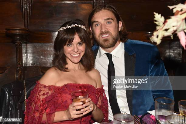 Michelle Randolph and Ben Berube attend Hearst Castle Preservation Foundation Hollywood Royalty Dinner at Hearst Castle on September 28 2018 in San...