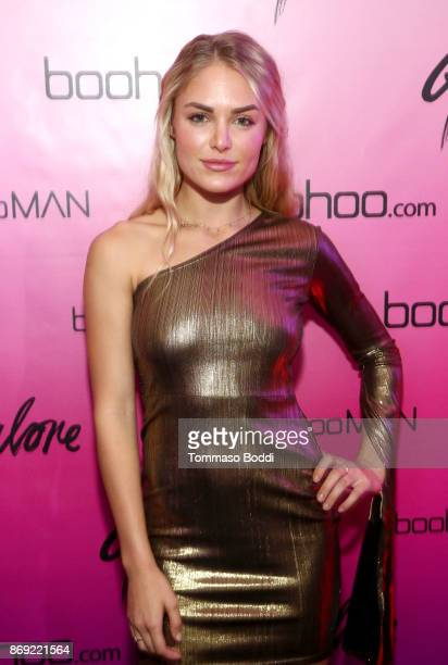 Michelle Randolph at the boohoocom LA Popup Store Launch Party with Galore Magazine on November 1 2017 in Los Angeles California