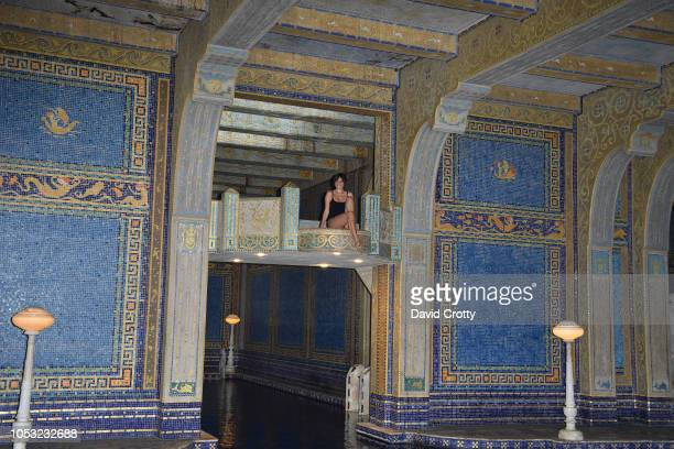 Michelle Randolph attends Hearst Castle Preservation Foundation Associate Trustees' Tour at Hearst Castle on September 27 2018 in San Simeon CA