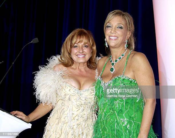 Michelle Rella wearing Chopard jewelry and Denise Rich