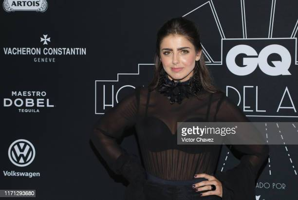 Michelle Renaud attends the black carpet of the GQ Hombres del Año 2019 at Fronton Mexico on September 25 2019 in Mexico City Mexico