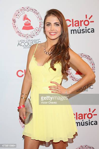 Michelle Renaud attends the Latin Grammy Acustic Sessions at Centro Cultural Roberto Cantoral on June 3 2015 in Mexico City Mexico