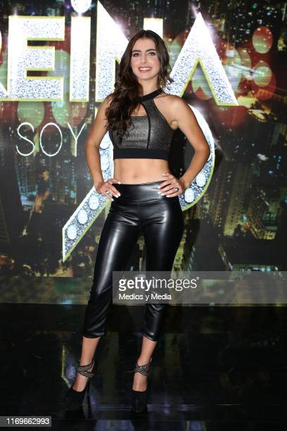 Michelle Renaud poses for photos during the presentation of the new series 'La Reina Soy Yo' at Televisa San Angel on August 22 2019 in Mexico City...