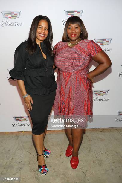 Michelle Rice and Bevy Smith attend the Cadillac Welcome Luncheon At ABFF Black Hollywood Now The Temple House on June 13 2018 in Miami Beach Florida