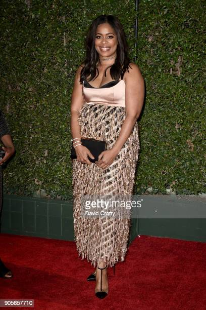 Michelle Rice attends the 49th NAACP Image Awards Arrivals at Pasadena Civic Auditorium on January 15 2018 in Pasadena California