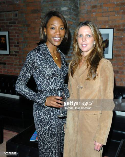 Michelle Robinson and Emilia Fanjul during MARIE CLAIRE Celebrates Fashion Beauty October 24 2005 at Home in New York City New York United States