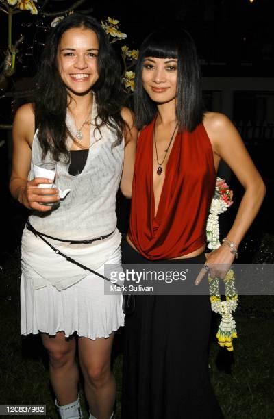 Michelle Rodriguez and Bai Ling during 2004 Bangkok International Film Festival Exclusive Dinner at Suan Pakkard Palace in Bangkok Thailand