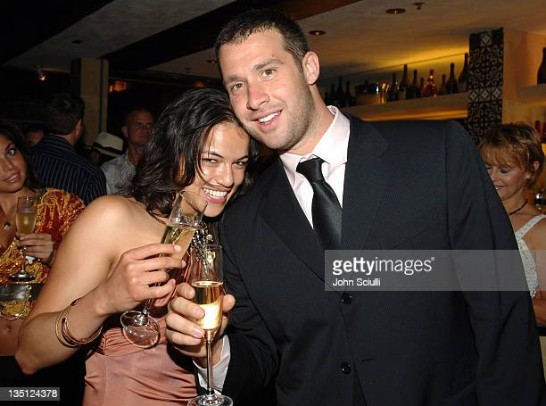 Michelle Rodriguez and Giancarlo Chersich during Michelle Rodriguez and Giancarlo Chersich's Birthday Party July 17 2005 at Cabana Club in Hollywood...