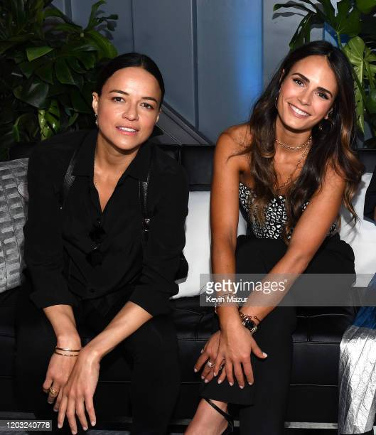 Michelle Rodriguez and Jordana Brewster attend Universal Pictures Presents The Road To F9 Concert and Trailer Drop on January 31 2020 in Miami Florida