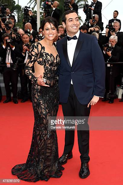 "Michelle Rodriguez and Mohammed Al Turki attend the ""Mad Max : Fury Road"" Premiere during the 68th annual Cannes Film Festival on May 14, 2015 in..."