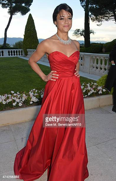 Michelle Rodriguez arrives at amfAR's 22nd Cinema Against AIDS Gala Presented By Bold Films And Harry Winston at Hotel du CapEdenRoc on May 21 2015...