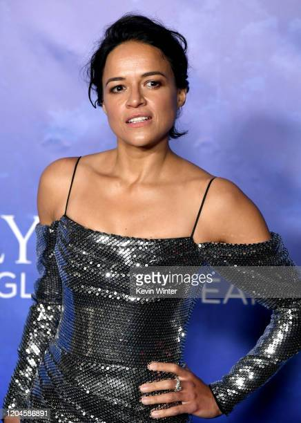 Michelle Rodriguez arrives at the 2020 Hollywood For The Global Ocean Gala Honoring HSH Prince Albert II Of Monaco at Palazzo di Amore on February 06...